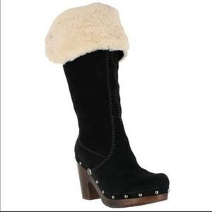 Ugg Australia Lillian suede and shearling boots